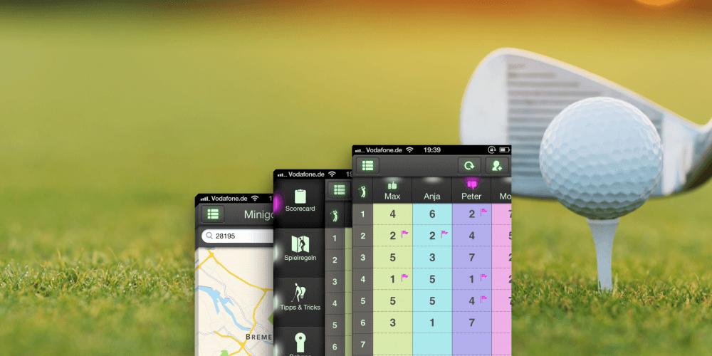 Mobile App Minigolf Pro für ein besonderes Nutzererlebnis
