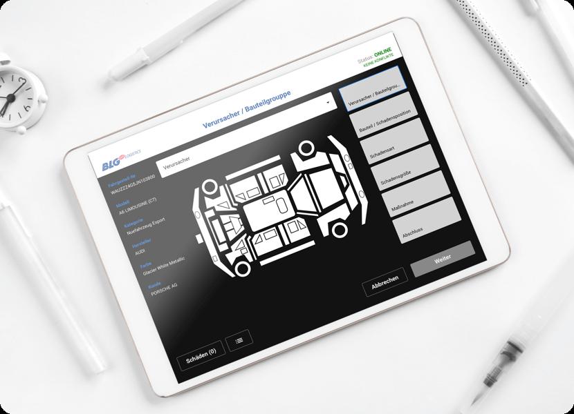 App Entwicklung zur Schadenserfassung im Bereich Automotive für BLG